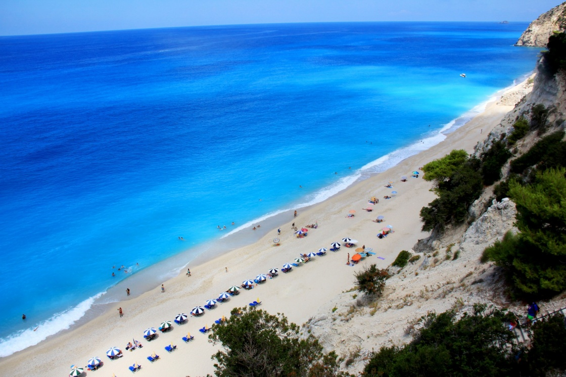 Egremni beach in Lefkada island in Greece